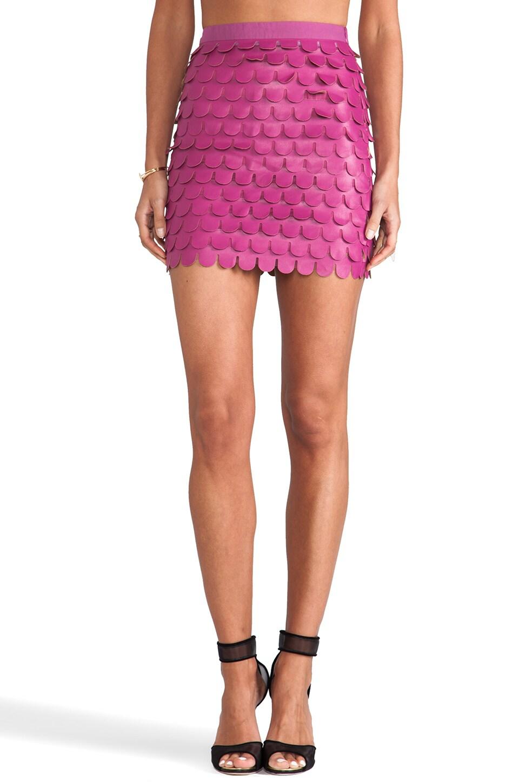 BLAQUE LABEL Scalloped Skirt in Dark Magenta