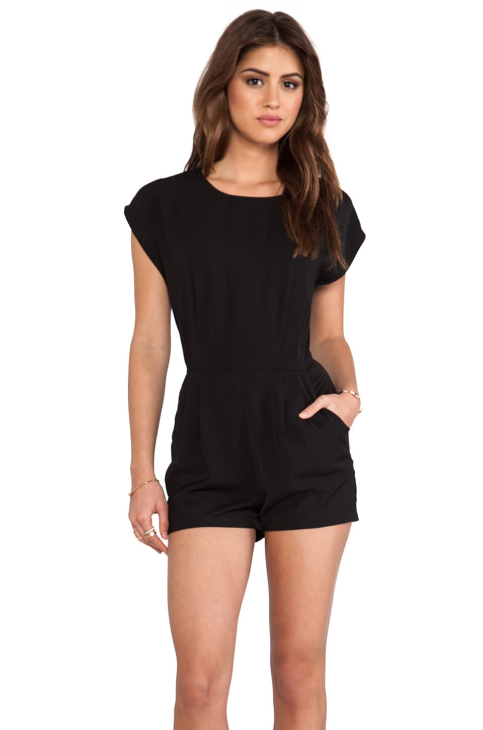 BLAQUE LABEL Romper in Black