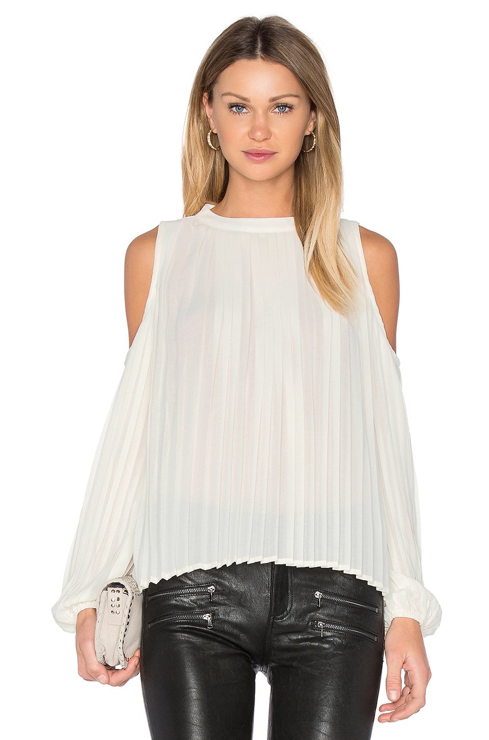 BLAQUE LABEL Pleated Blouse in Creme