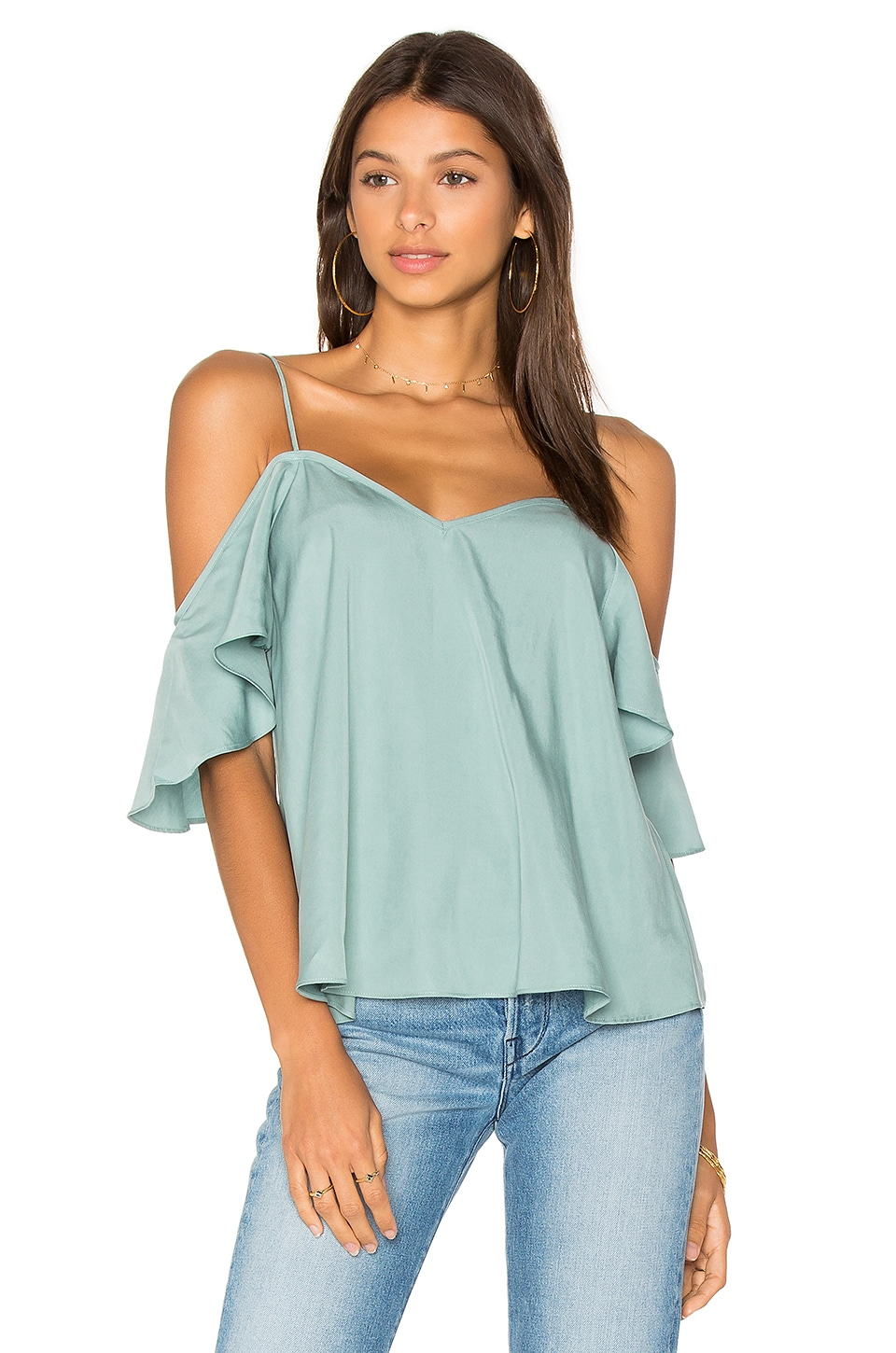 BLAQUE LABEL Ruffle Top in Slate