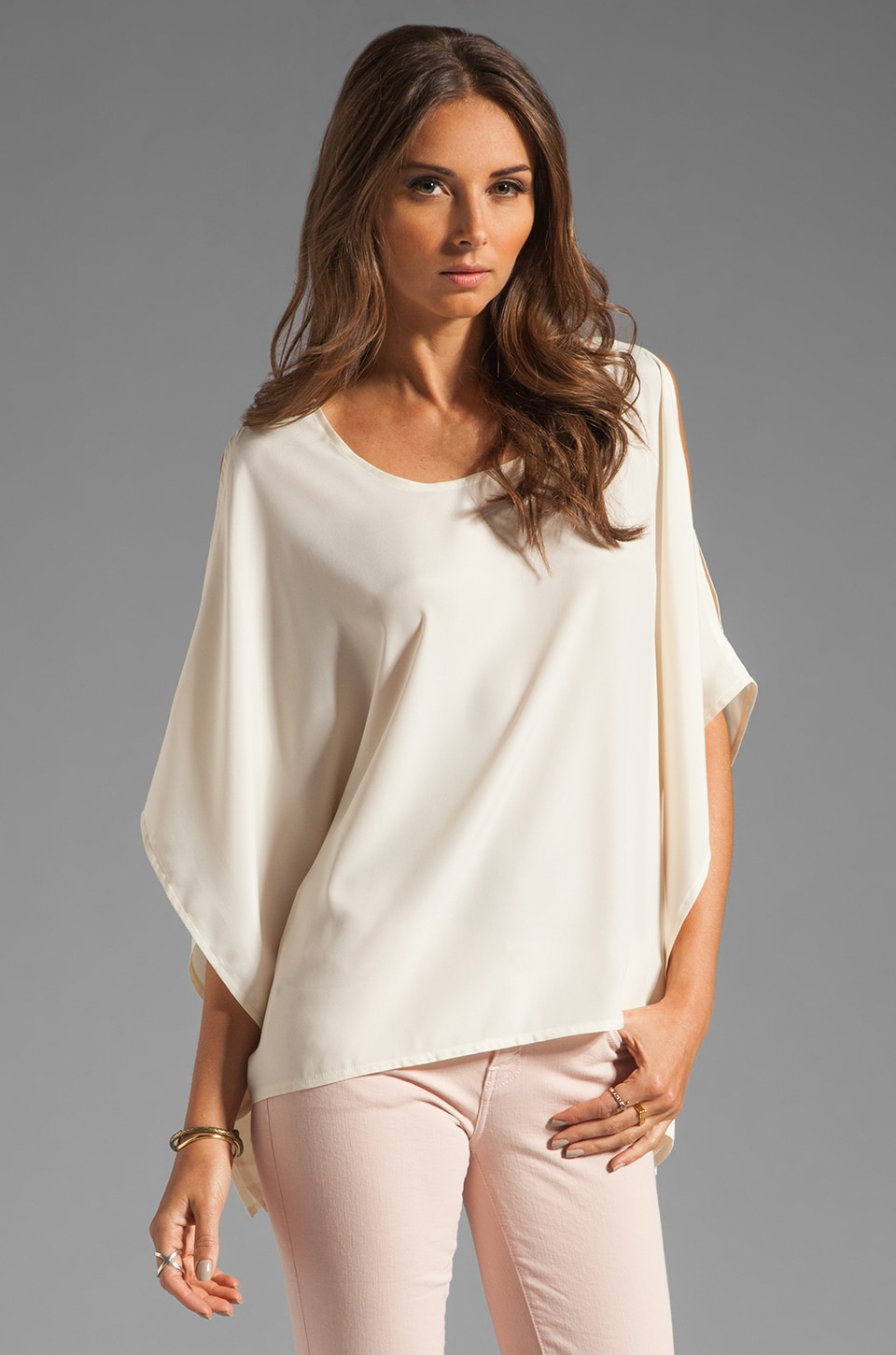 BLAQUE LABEL Open Shoulder Top in Cream