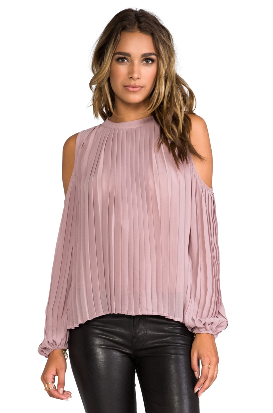 BLAQUE LABEL Cut Out Blouse in Mauve