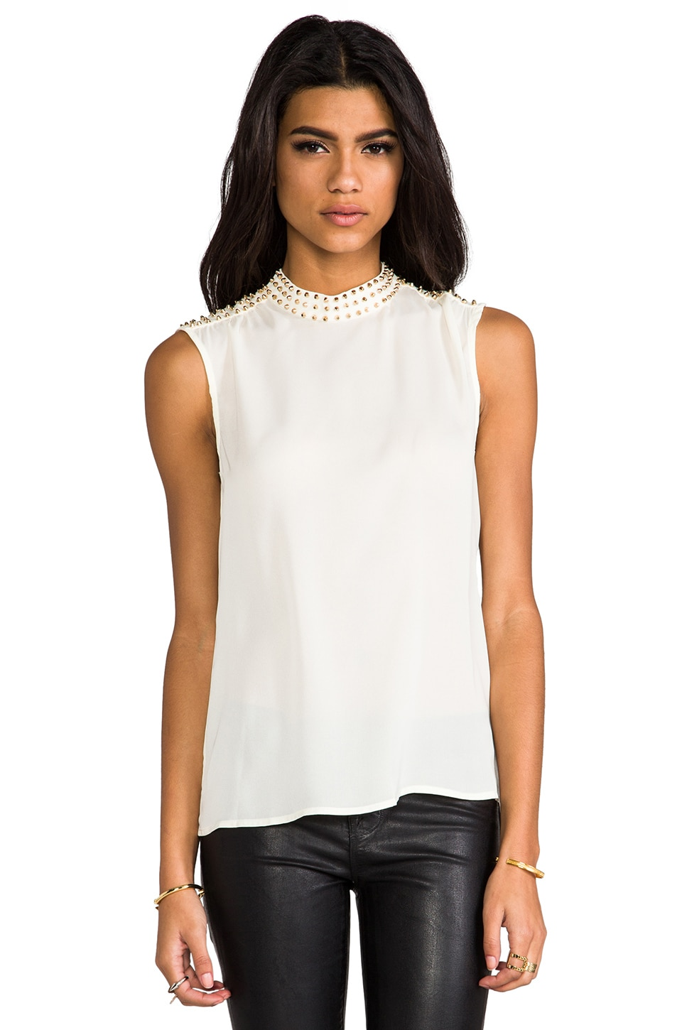 BLAQUE LABEL Embellished Top in Cream