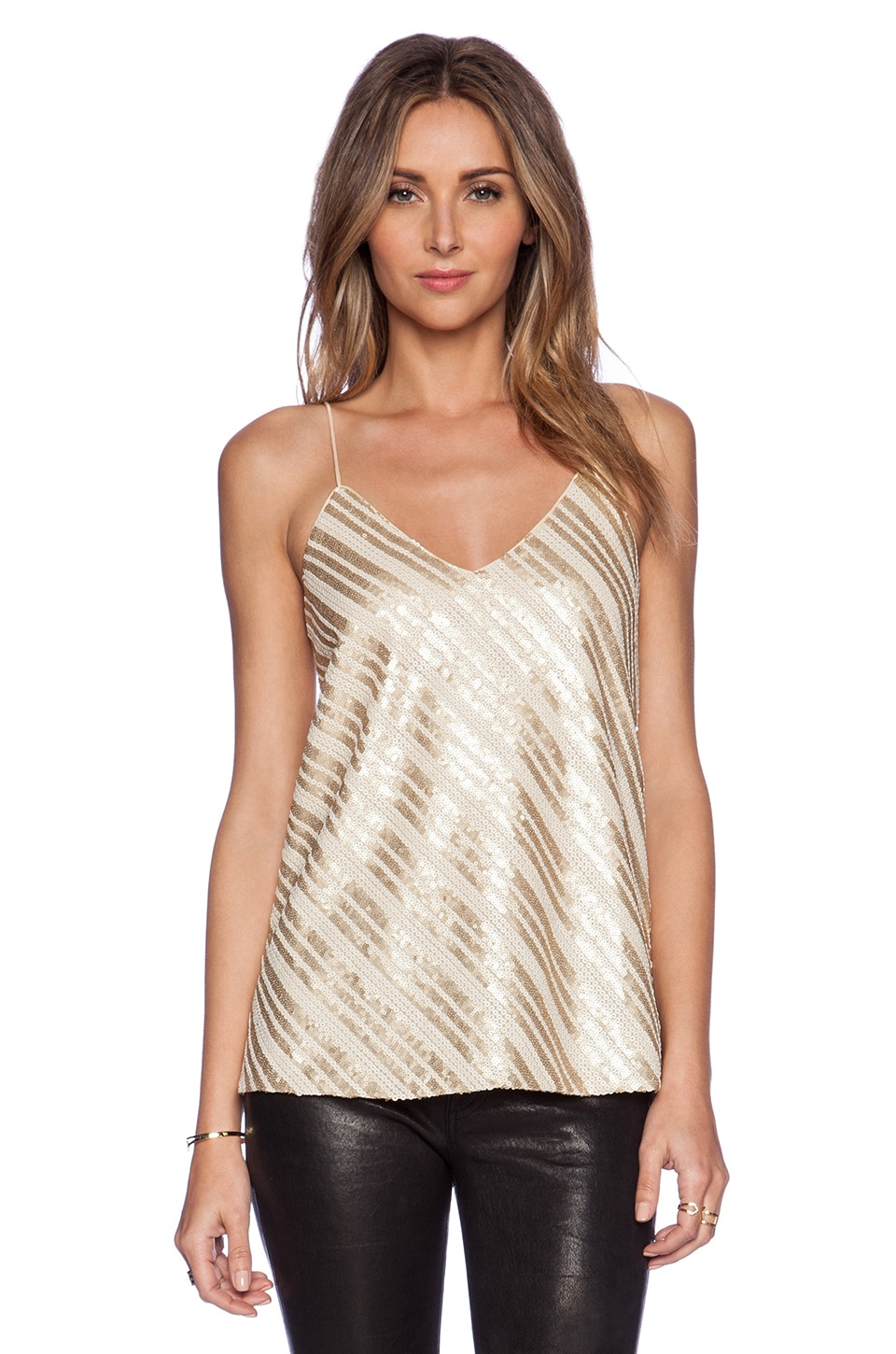 BLAQUE LABEL Sequin Tank in Gold
