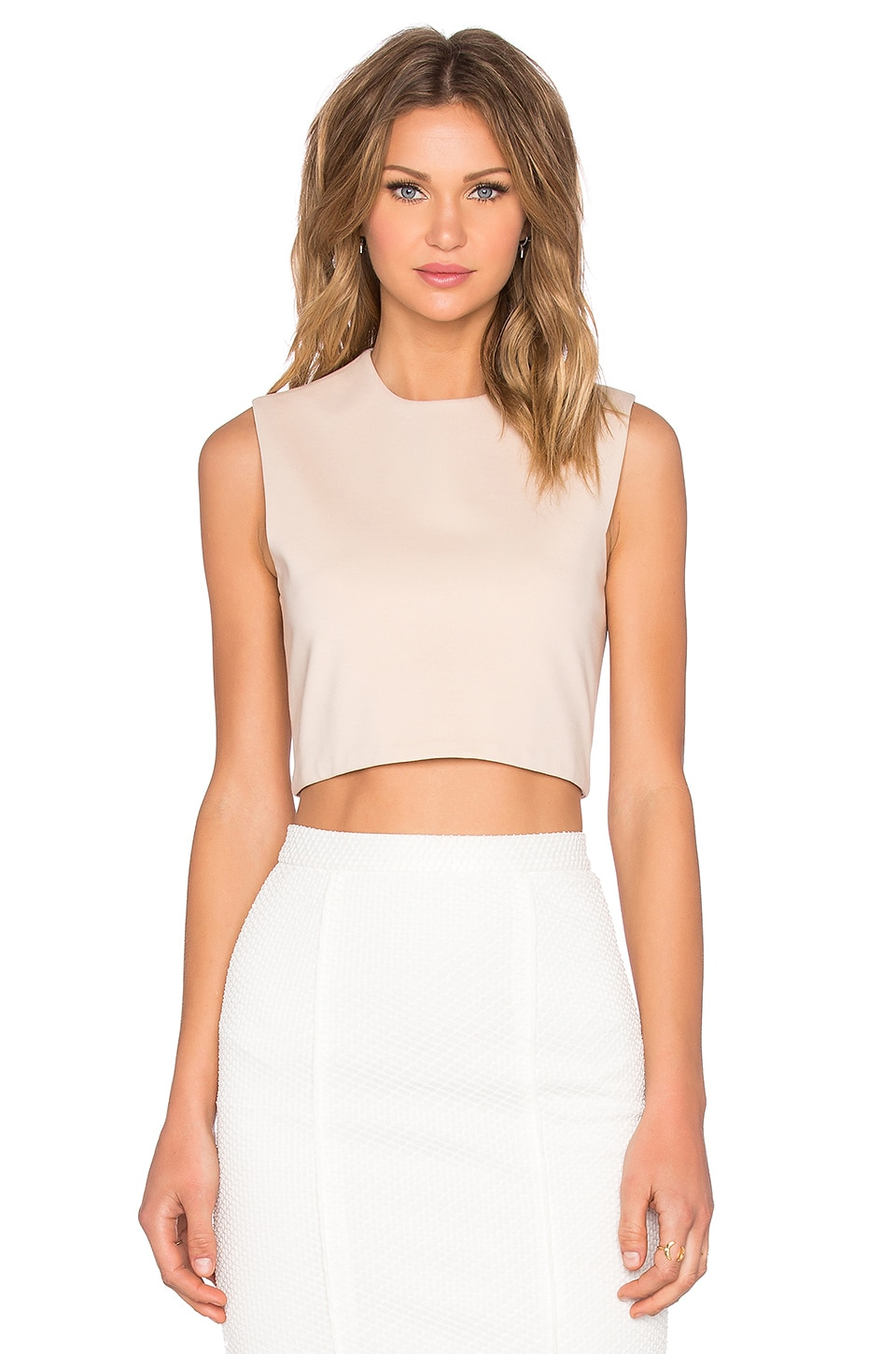 BLAQUE LABEL Knit Crop Top in Sand
