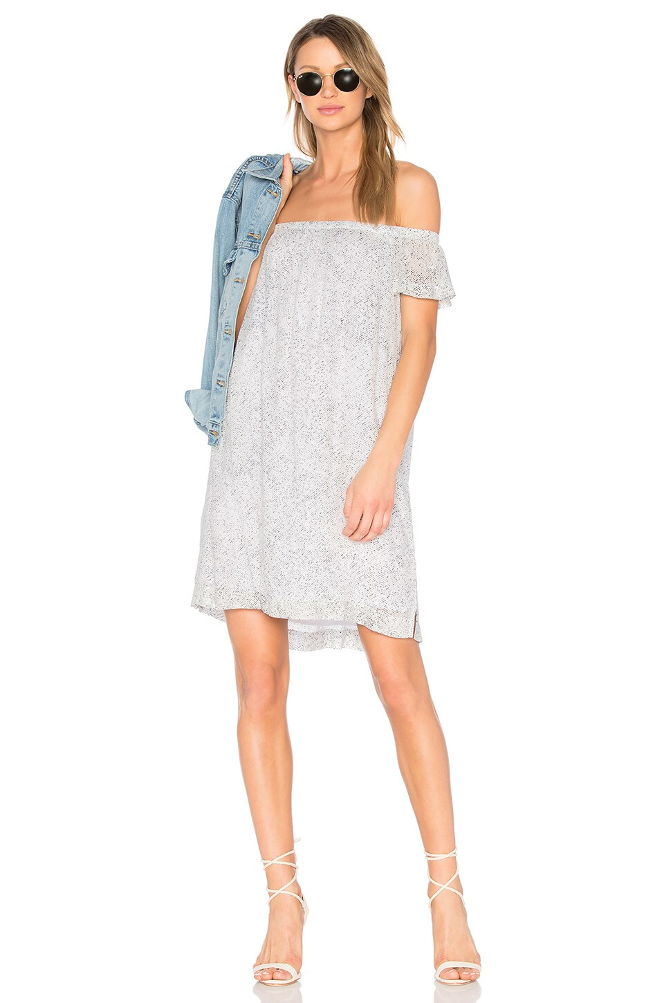 Bella Dahl Off Shoulder Dress in Rainstorm