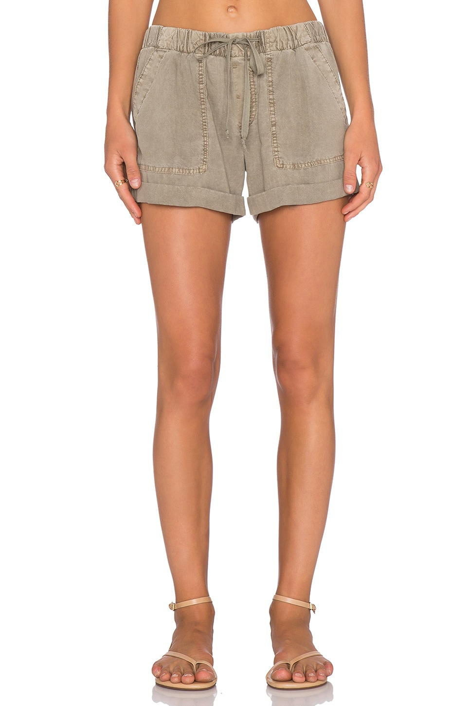 Bella Dahl Easy Pocket Short in Rustic Olive