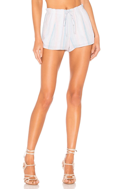 Bella Dahl Pleated Short in Sunburst Stripes