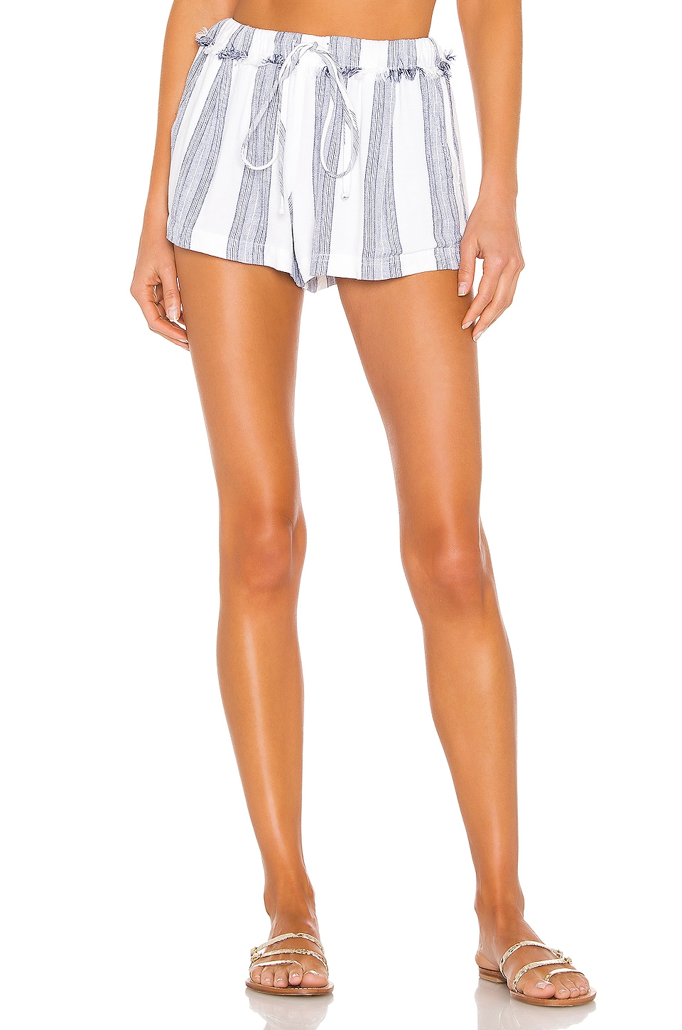 Bella Dahl Frayed Waistband Short in Santorini