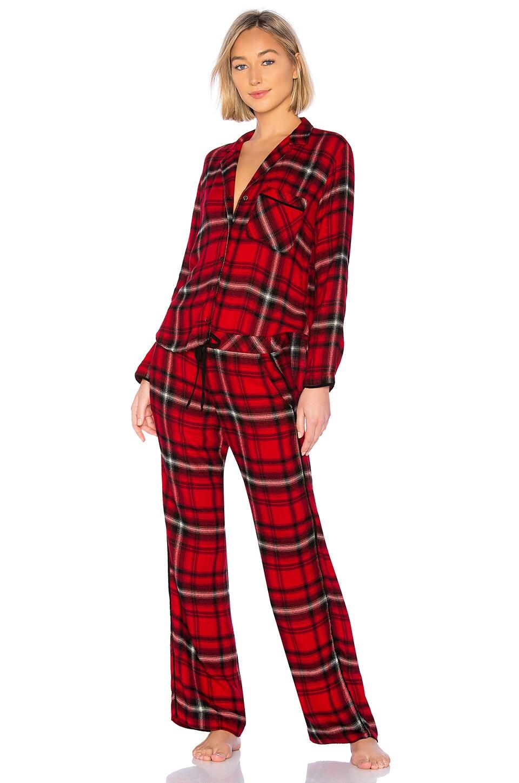 Bella Dahl Jasper Flannel Sleep Set in Red