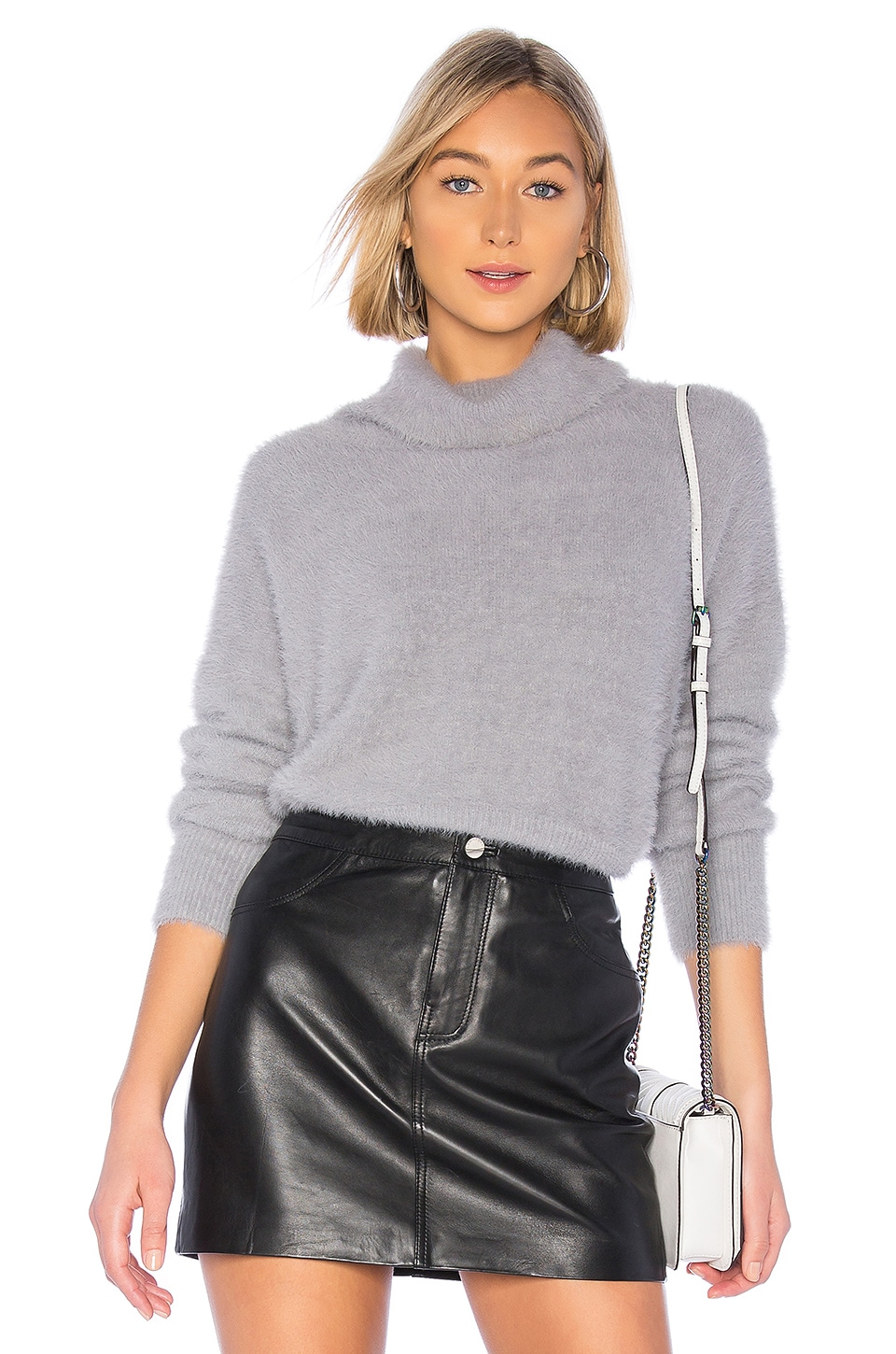 Bella Dahl Turtleneck Sweater in Gunmetal Grey