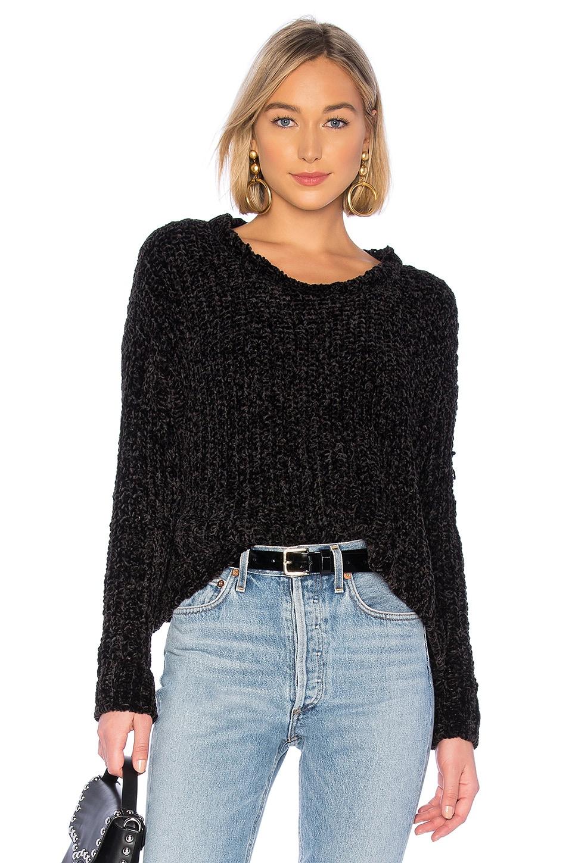 Bella Dahl Slouchy Sweater in Black