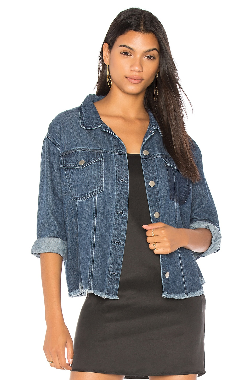 Bella Dahl Fray Trucker Jacket in Vintage Lake Wash