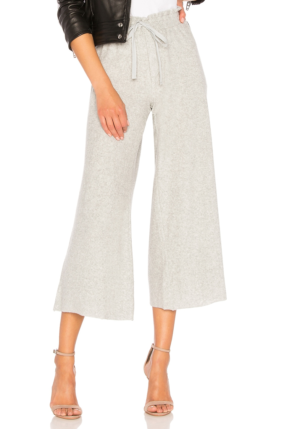 Bella Dahl Wide Leg Crop Pant in Grey Melange