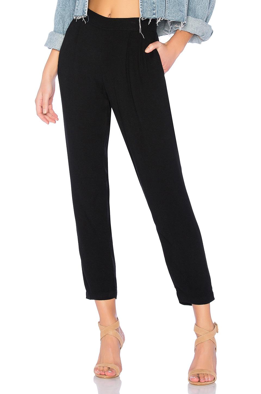 Bella Dahl Pleat Front Trouser in Black
