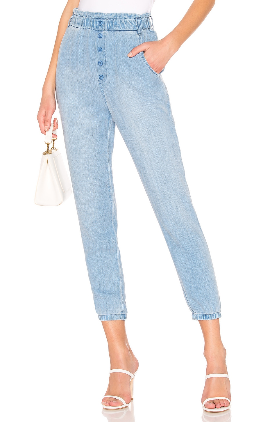 Bella Dahl Button Front Jogger in Clearwater Wash