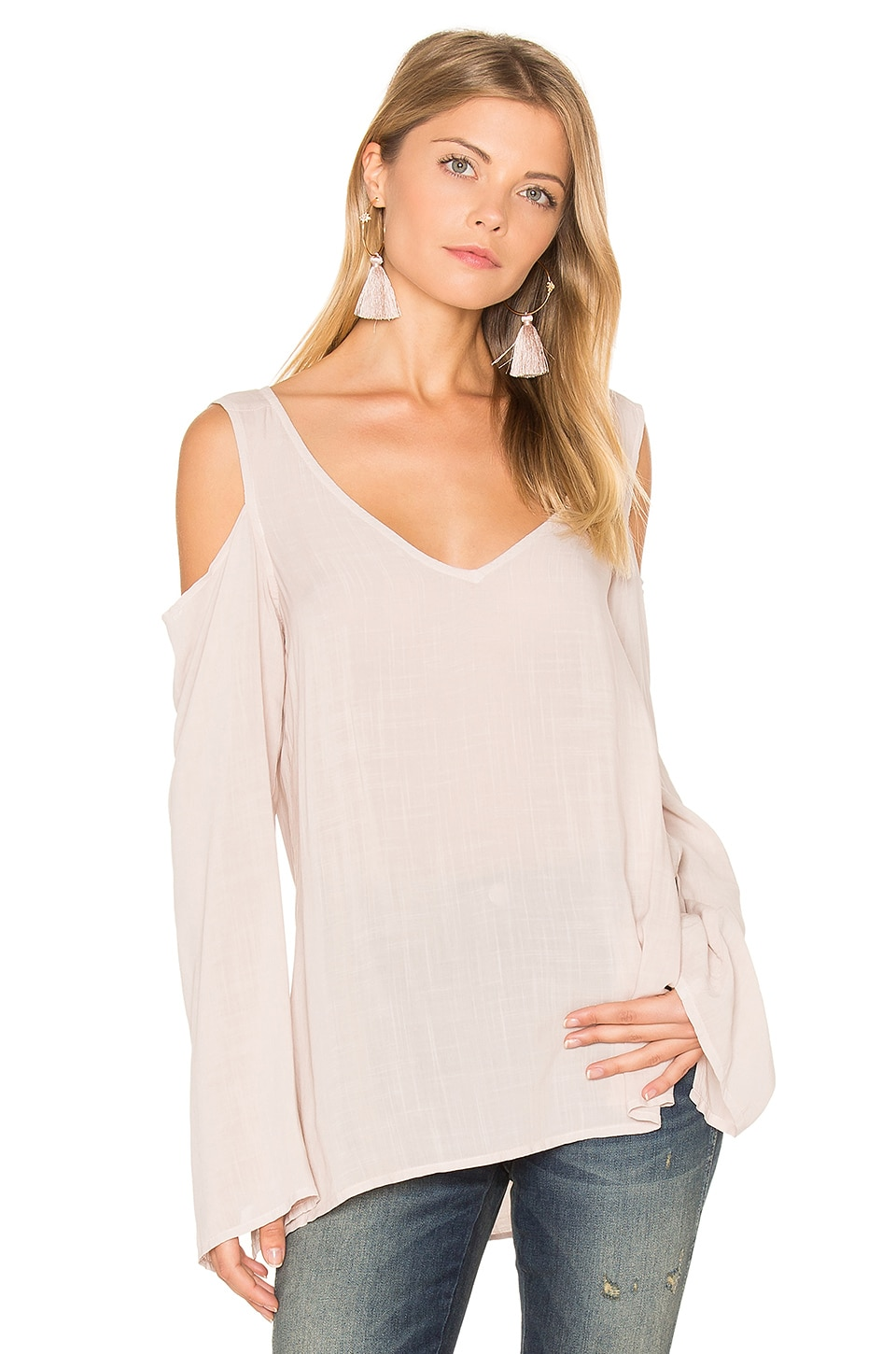 Cold Shoulder V Neck Blouse by Bella Dahl