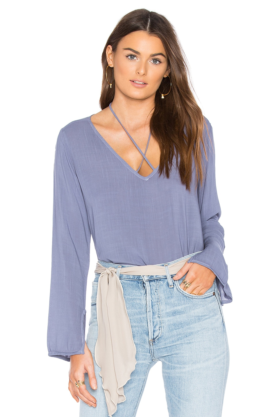 V Neck Top by Bella Dahl