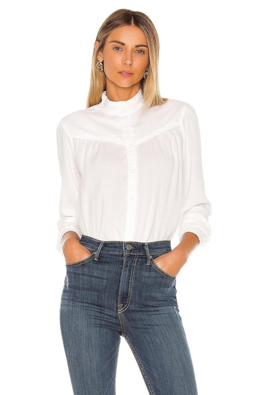 Bella Dahl Button Front Prairie Blouse in White