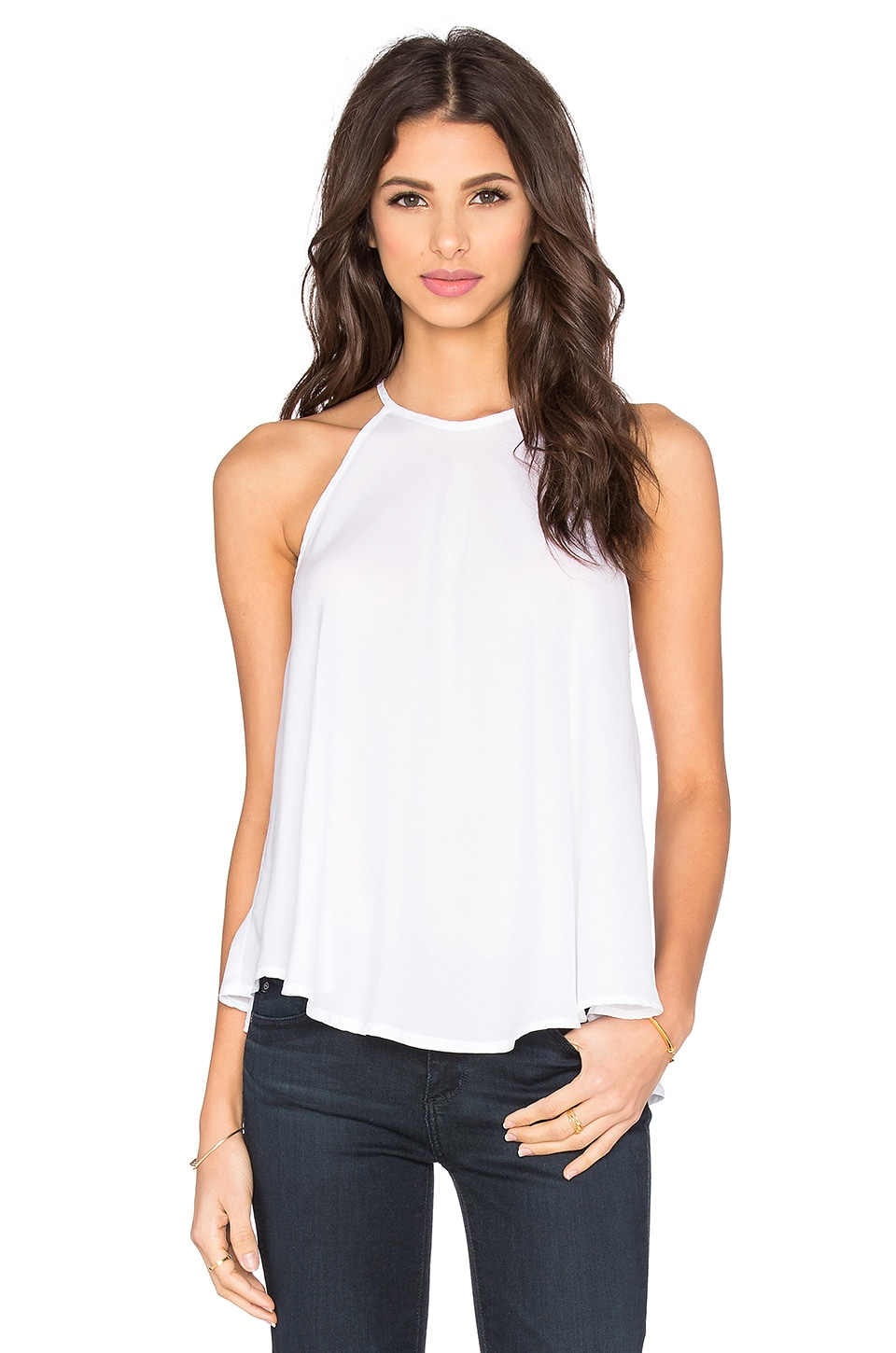 Bella Dahl Bias Halter in White