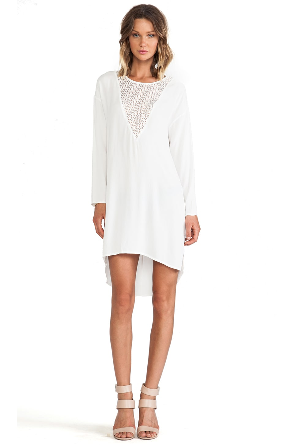 bless'ed are the meek Distort Tunic in Ivory