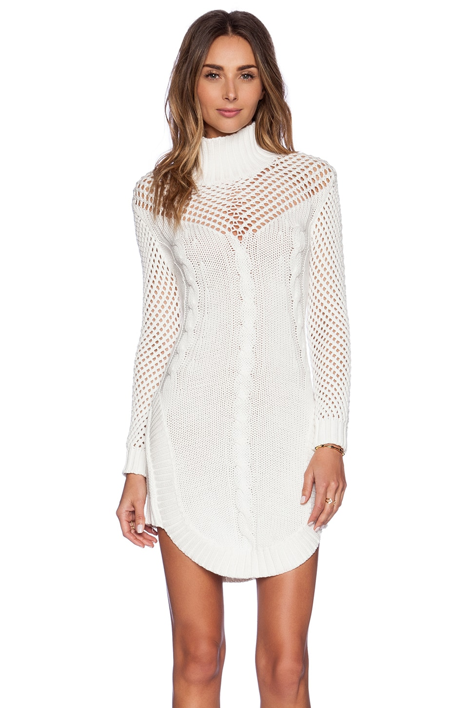 bless'ed are the meek Walkway Dress in Ivory