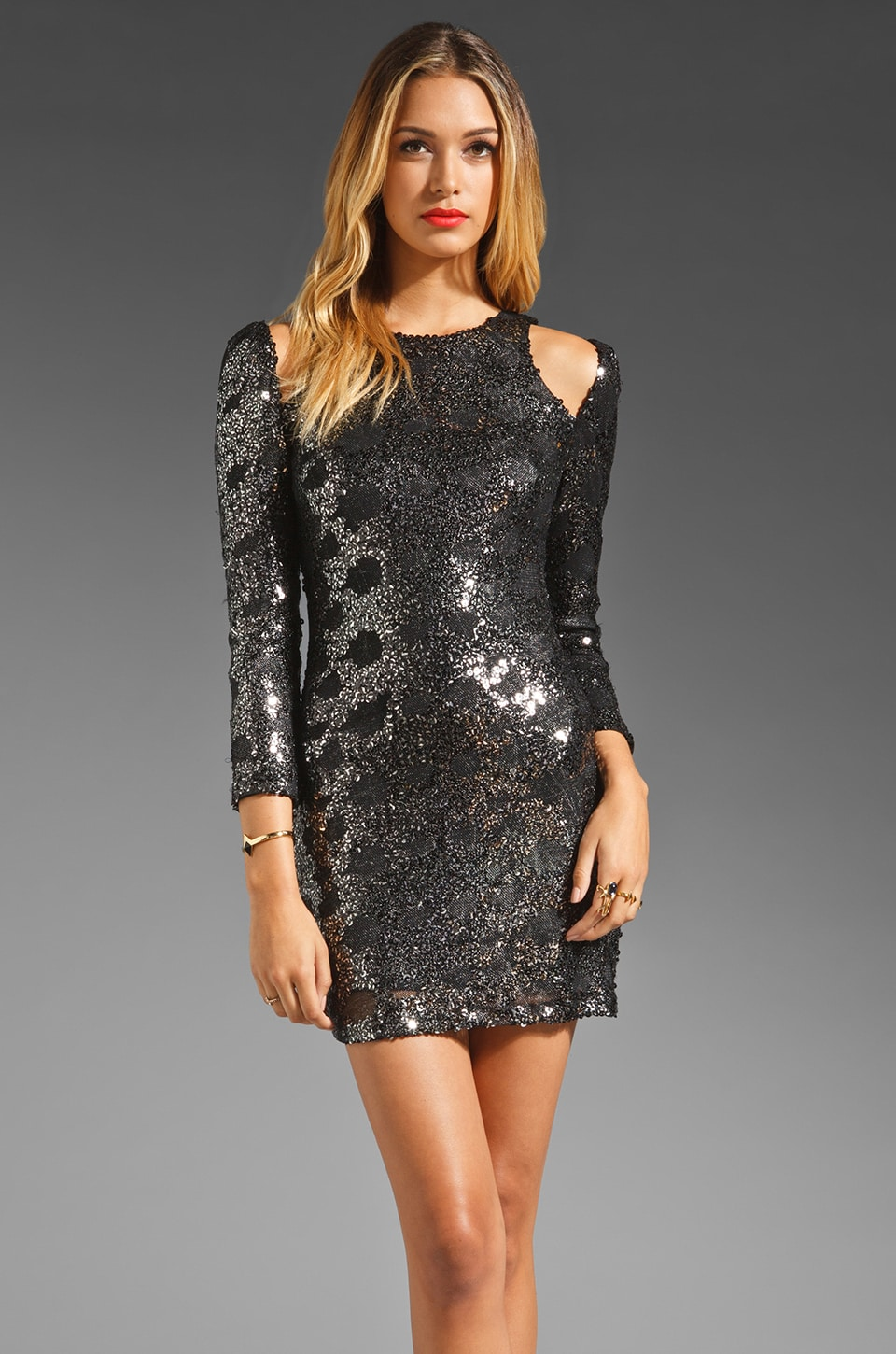 bless'ed are the meek Royal Shineness Dress in Black