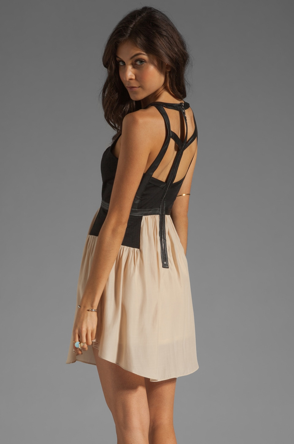 bless'ed are the meek My Prerogative Dress in in Black/Nude