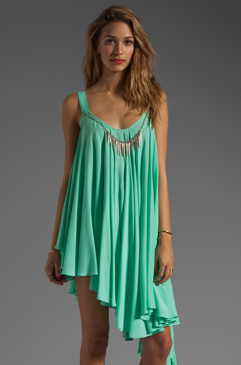 bless'ed are the meek Chain Gang Dress in Mint