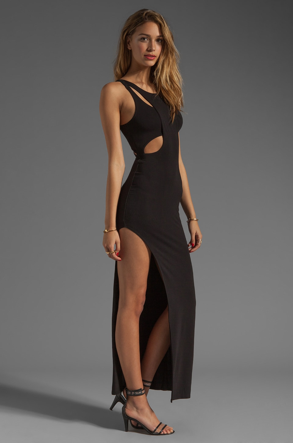 bless'ed are the meek Holey Smoke Dress in Black
