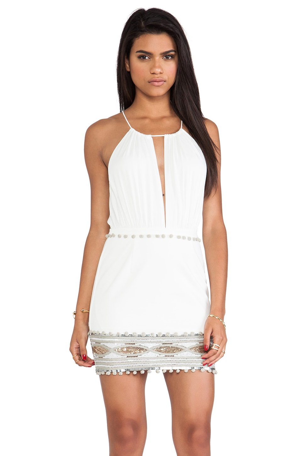 bless'ed are the meek Anaconda Dress in Ivory