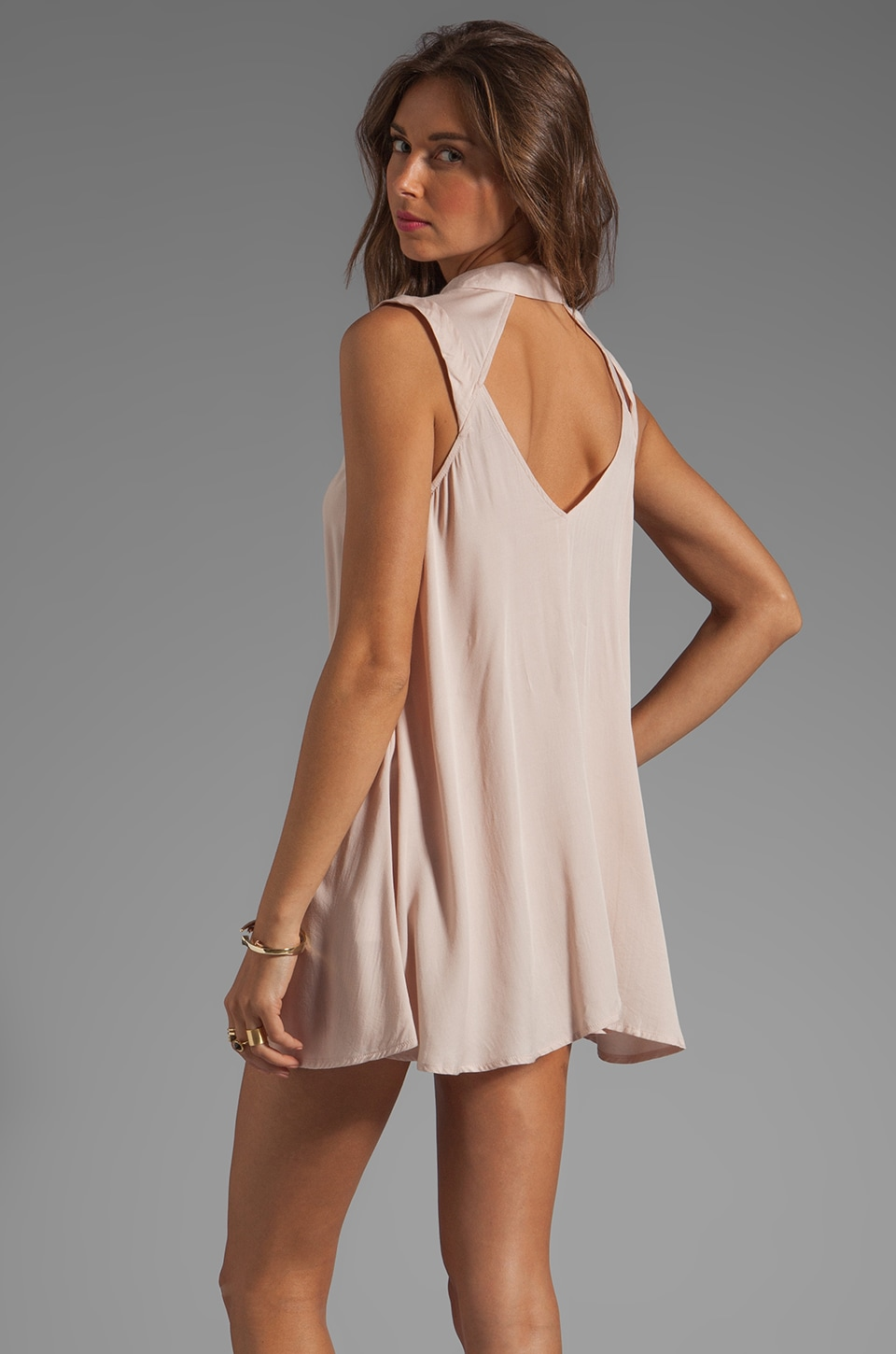 bless'ed are the meek Bermuda Dress in Nude