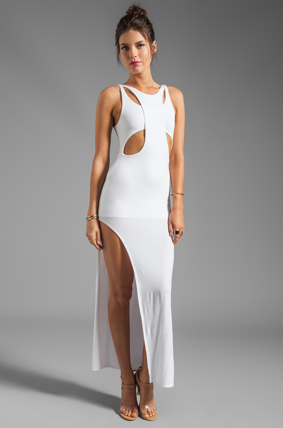 bless'ed are the meek EXCLUSIVE Holey Smoke Dress in White