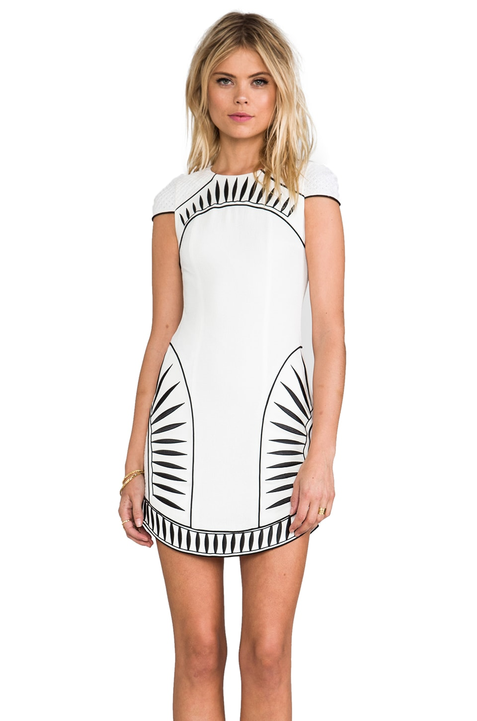 bless'ed are the meek Contrast Dress in Ivory/Black
