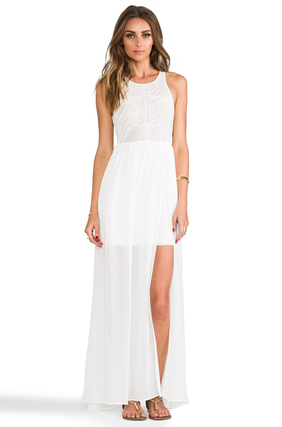 bless'ed are the meek x REVOLVE Terrace Maxi in Ivory
