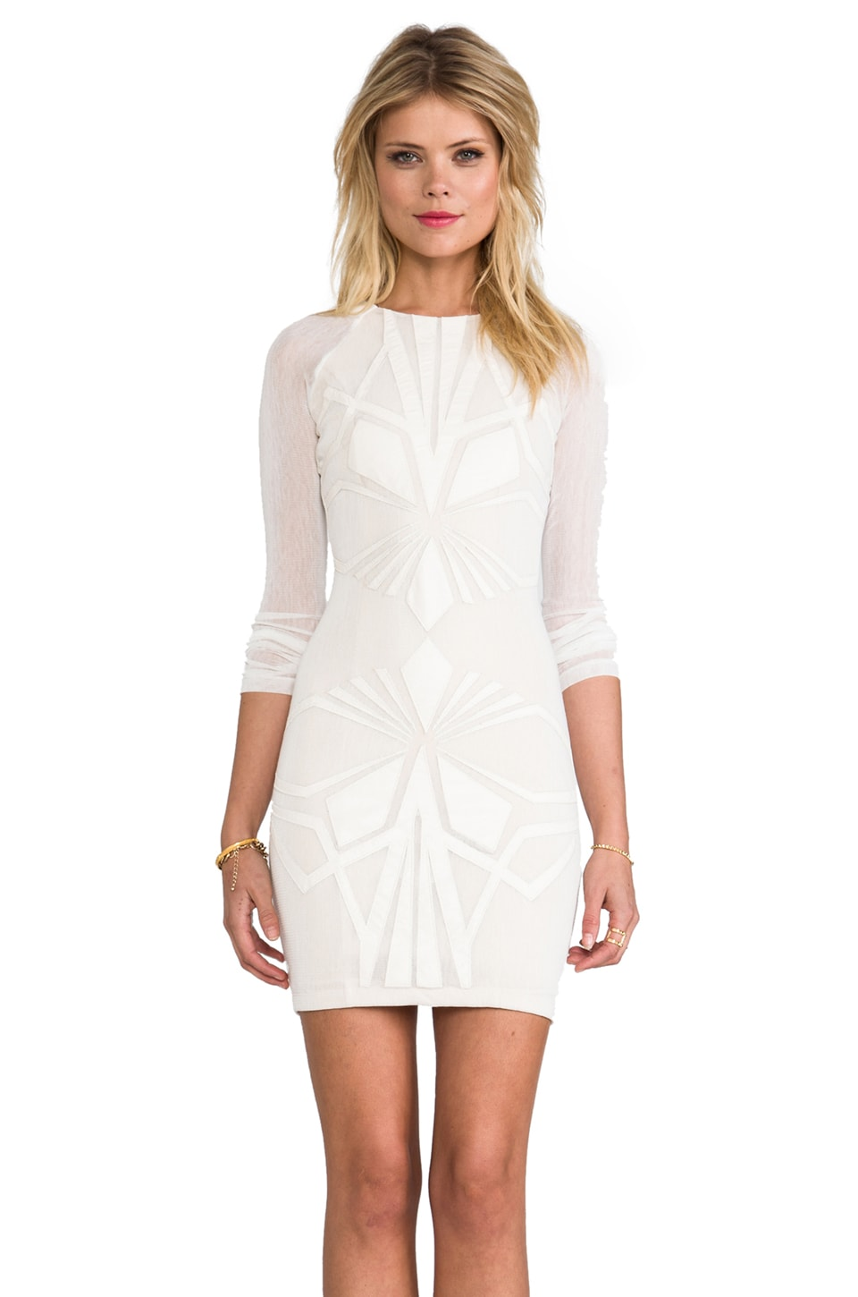 bless'ed are the meek Shapes Dress in Ivory