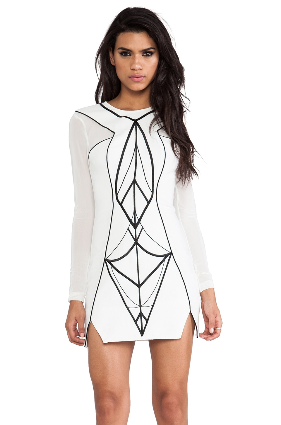 bless'ed are the meek Archangel Dress in Ivory & Black