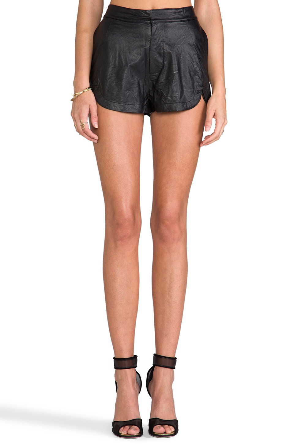 bless'ed are the meek Construct Shorts in Black