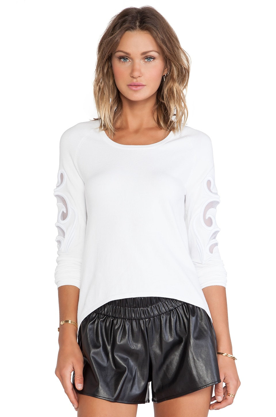 bless'ed are the meek Baroque Jumper in Ivory