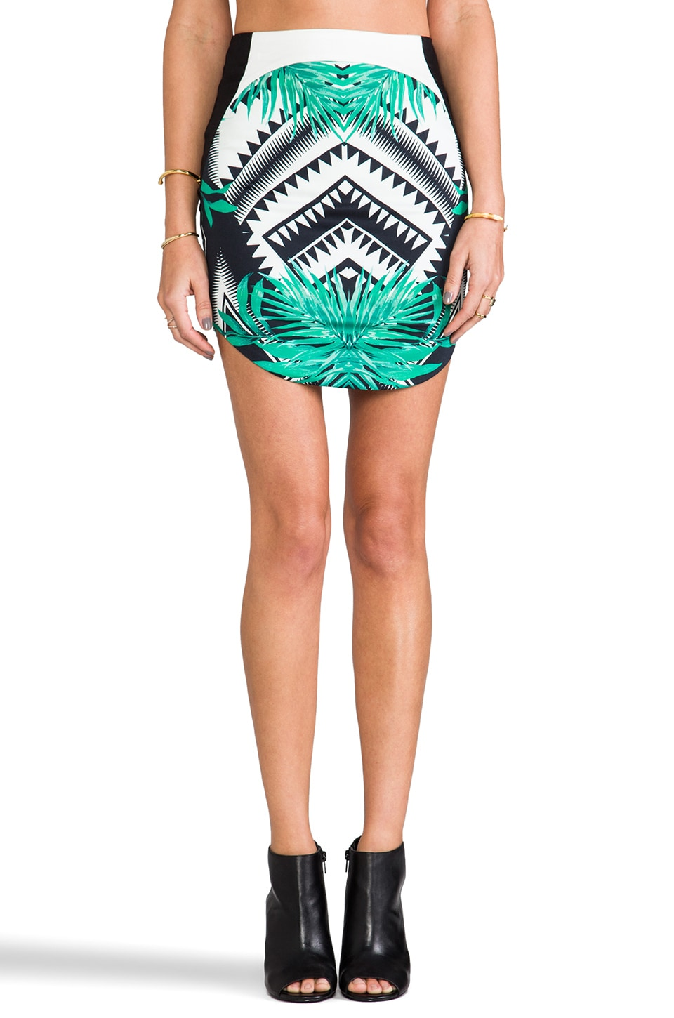 bless'ed are the meek Luscious Skirt in Black/Green
