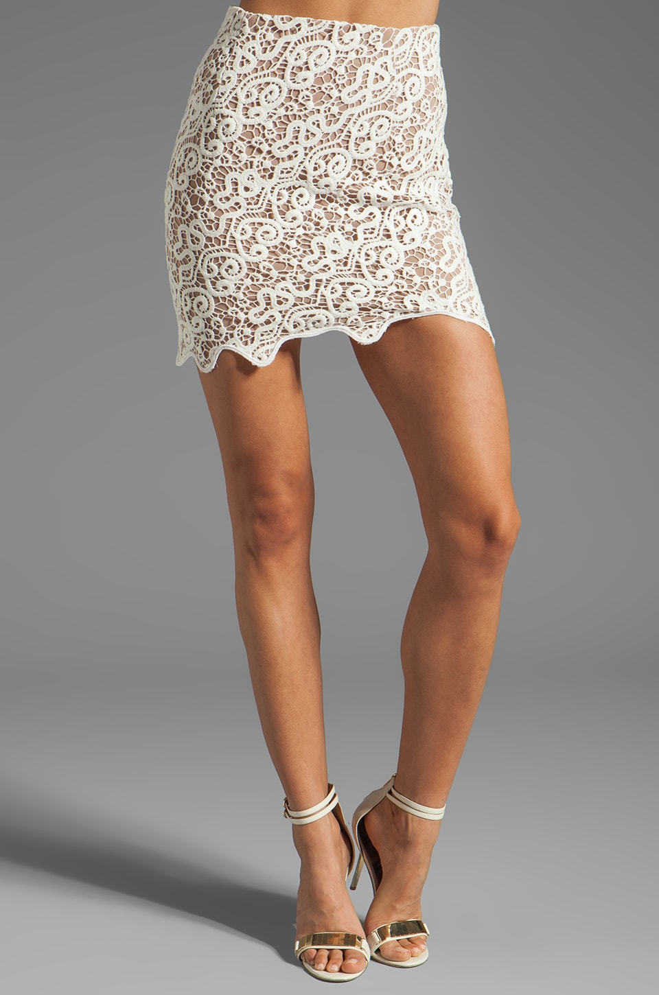 bless'ed are the meek Depths Skirt in Ivory