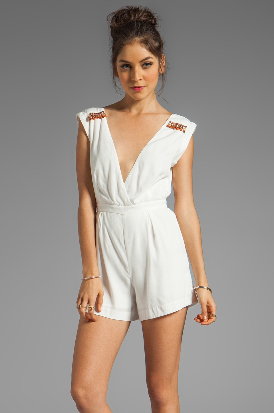 bless'ed are the meek Scale Jumpsuit in Ivory