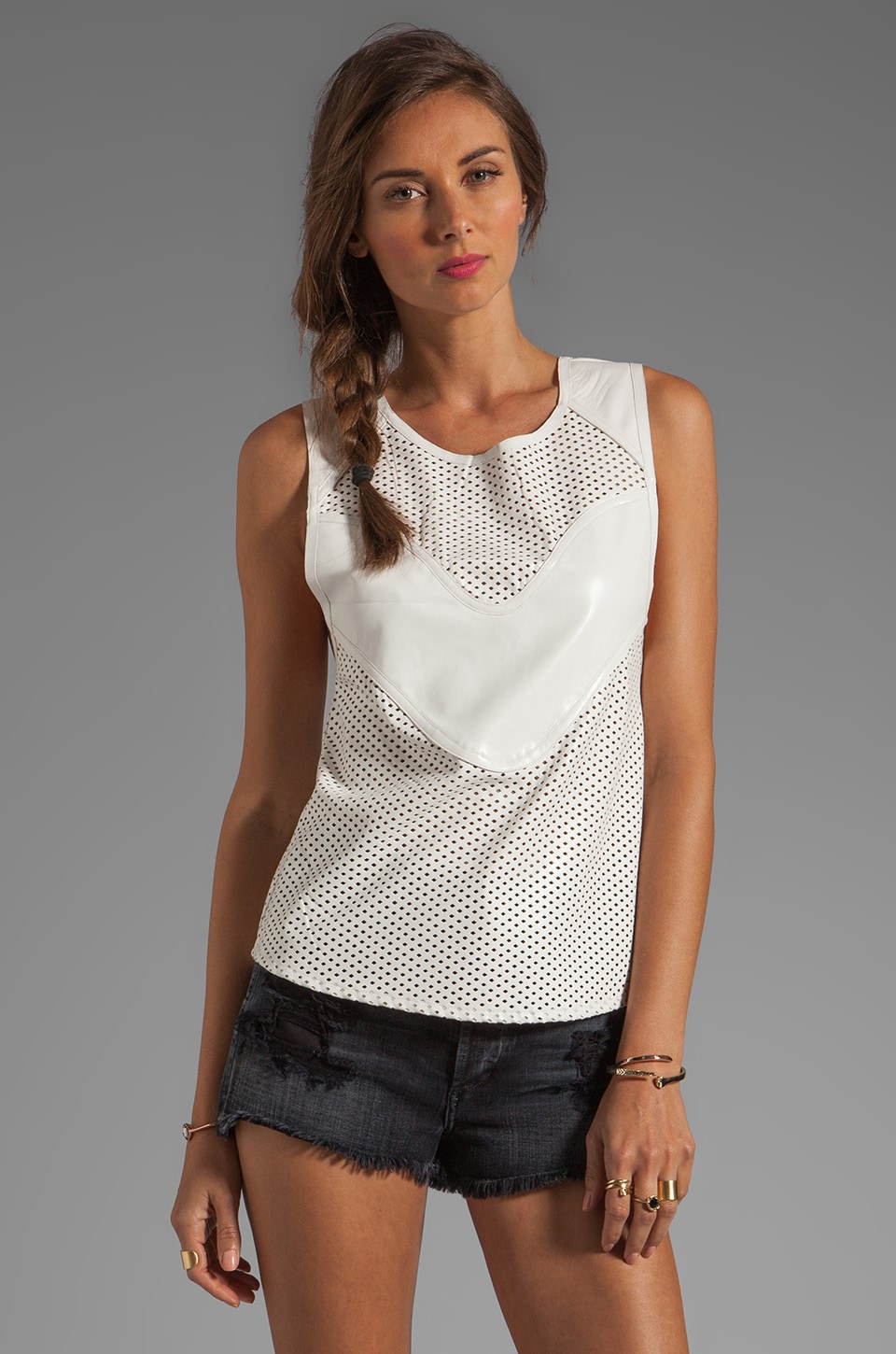 bless'ed are the meek Shell Top in Ivory