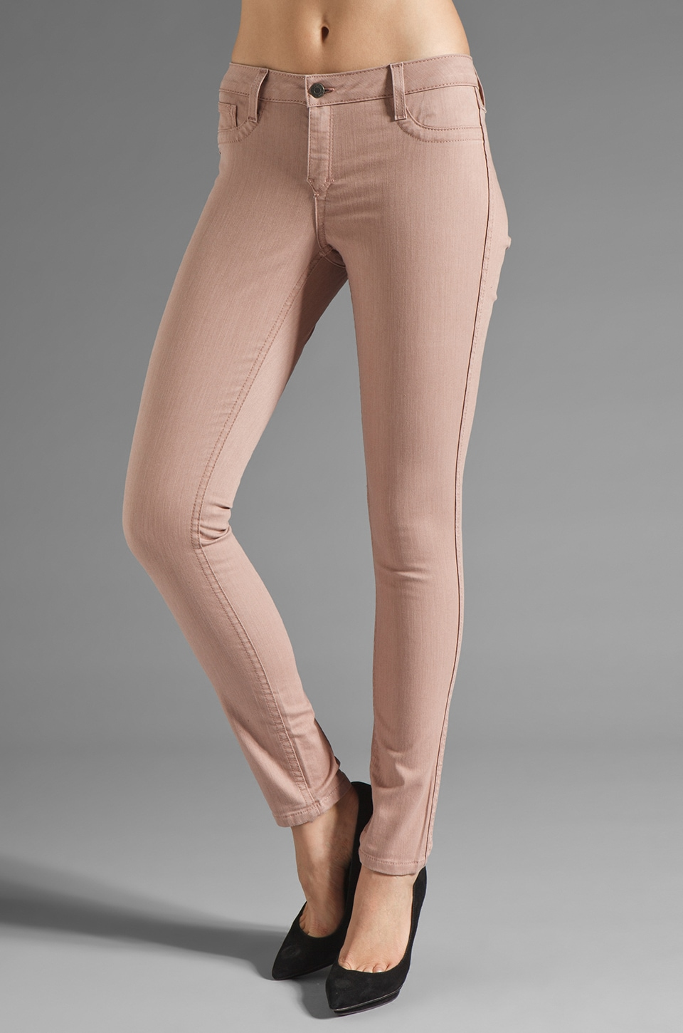 BLEULAB Reversible Matrix Detour Legging in Tea Rose/Viridian