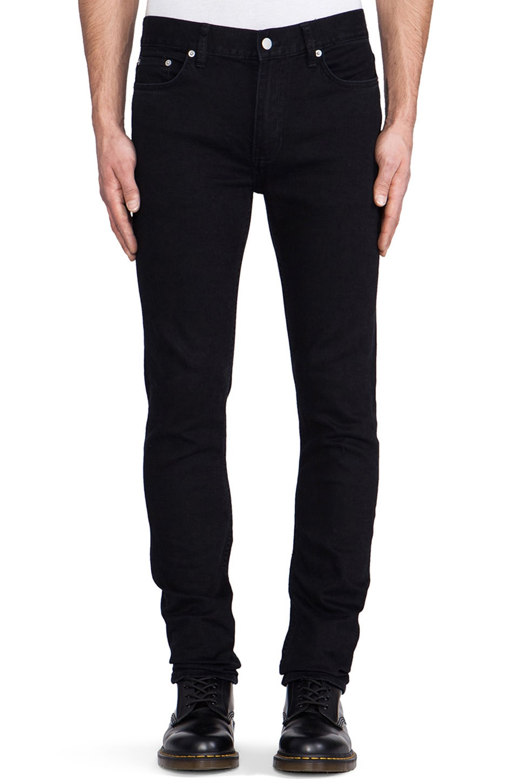BLK DNM Jeans 5 in Baruch Black