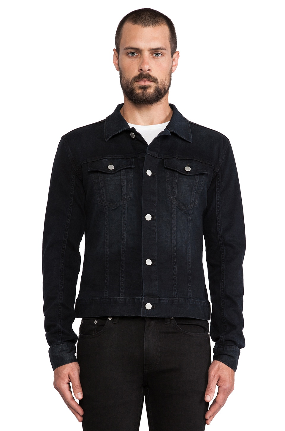 BLK DNM Jean Jacket 5 in Beekman Black