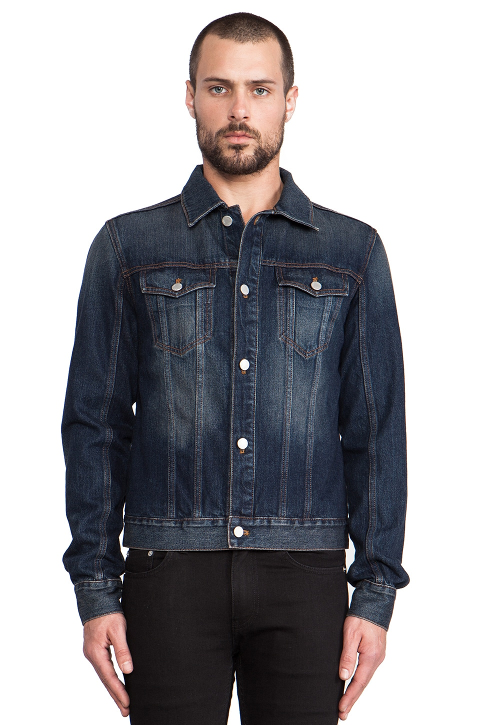 BLK DNM Jean Jacket 5 in Duane Blue