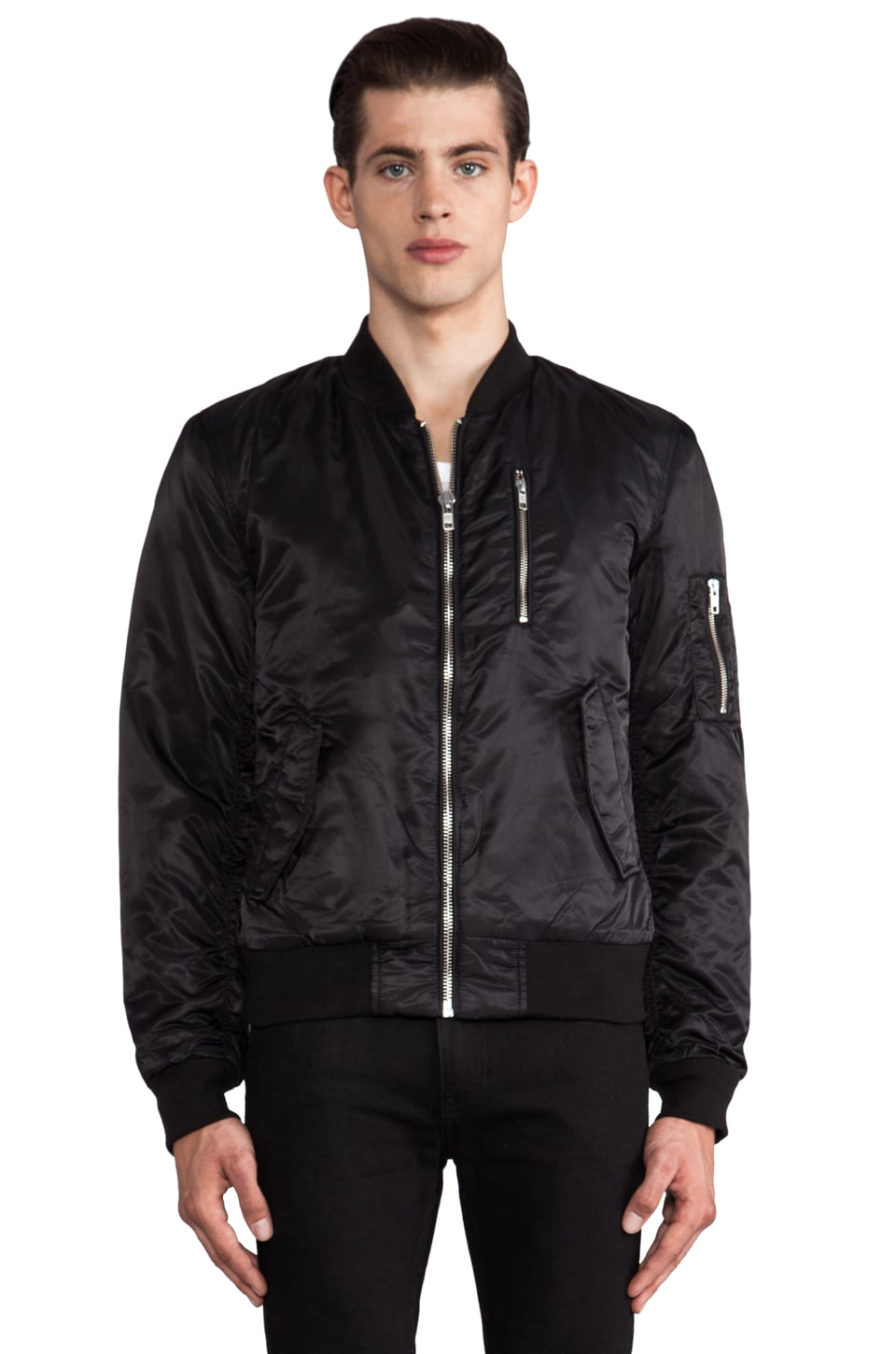 BLK DNM Bomber Jacket in Black
