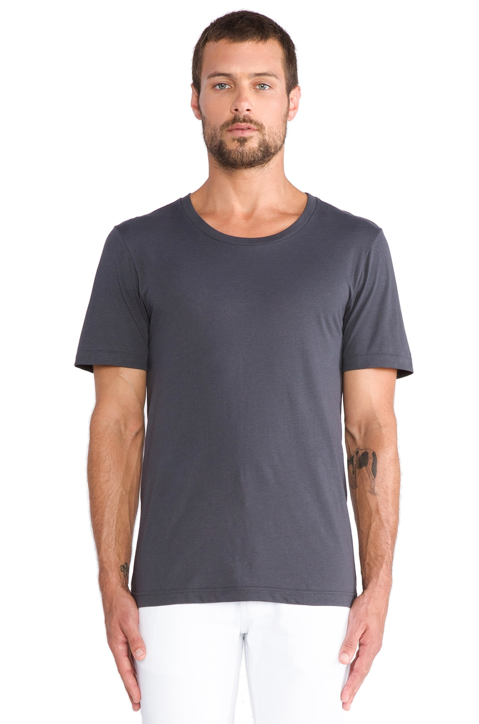 BLK DNM T-Shirt 3 in Uniform Grey