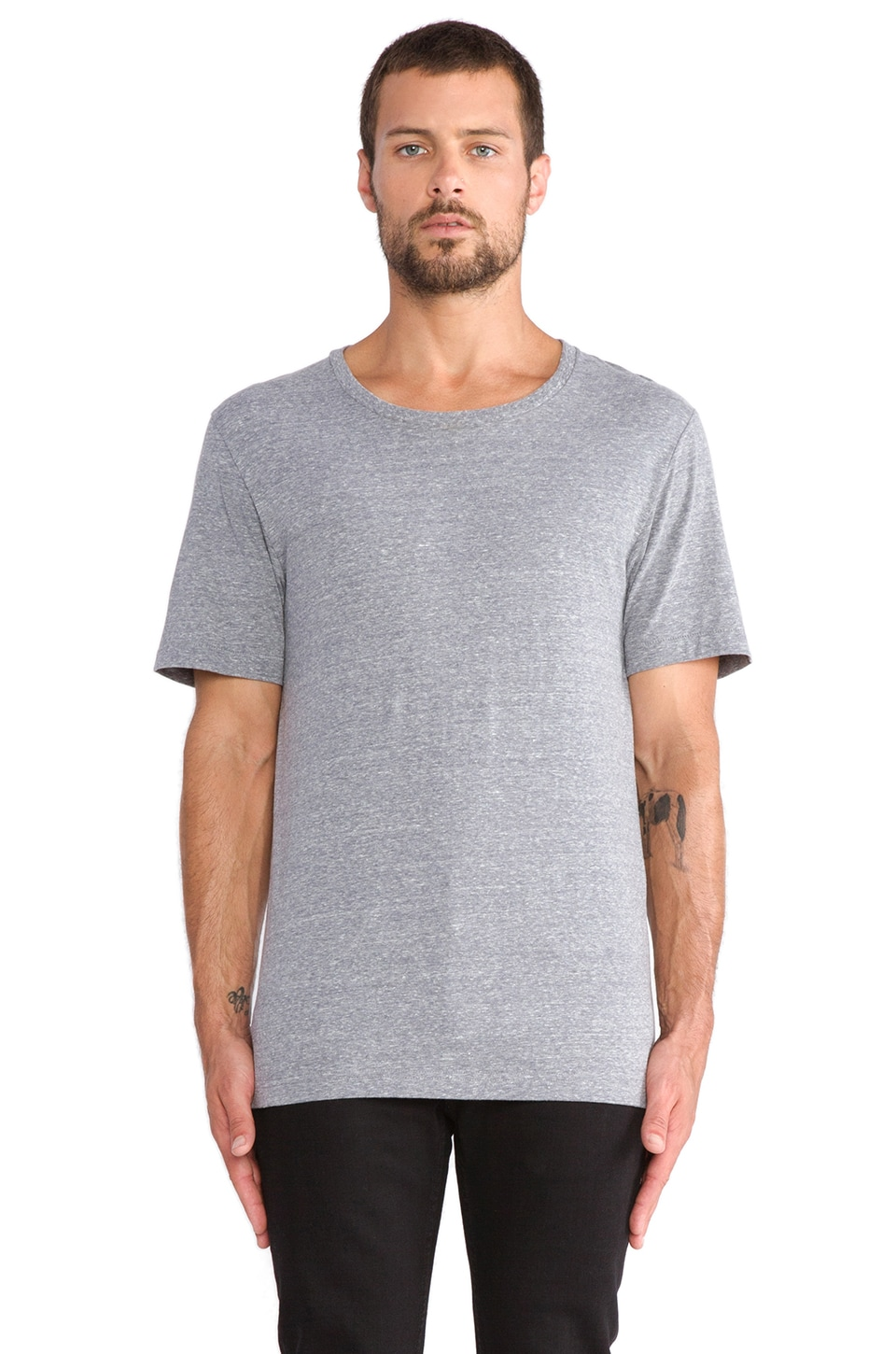 BLK DNM T-Shirt 3 in Light Grey Melange